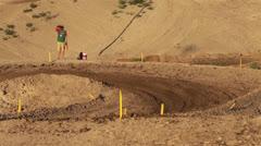 Youth motorcycle motocross race corner HD 8318 Stock Footage