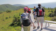 Stock Video Footage of hikers on skyline trail in cape breton nova scotia