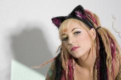 Sexy girl with tattoos Stock Photos