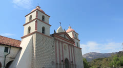 Santa Barbara Mission 4 Stock Footage