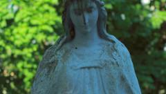 Old catholic angel Stock Footage