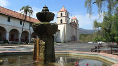 Santa Barbara Mission 1 - stock footage