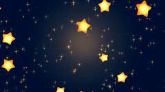 Explode of stars for the appearance of text, name, logo Stock Footage