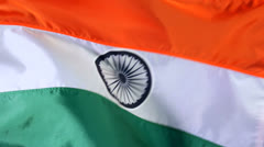 Flag of India Stock Footage