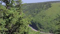 Skyline trail in cape breton nova scotia Stock Footage