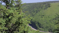 Stock Video Footage of skyline trail in cape breton nova scotia