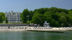 Grand Hotel Heiligendamm near Rostock - Baltic Sea, Northern Germany Stock Footage