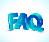 faq letters - stock illustration