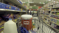 Food grocery shopping fast timelapse POV HD 001 Stock Footage