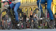 Stock Video Footage of Munich Bike Night annual event bicycle Germany Bavaria