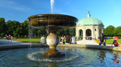 Munich Hofgarten Palace park Diana Temple Germany Bavaria Stock Footage