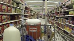 Food shopping cookie drink isle shelf HD 001 Stock Footage