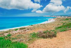 clouds over san giovanni beach - stock photo