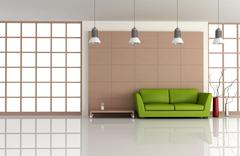 Modern livingroom Stock Illustration