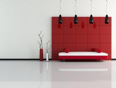 essential interior - stock illustration