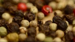 Coloured pepper Stock Footage