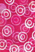 Close up of retro tapestry fabric pattern background - stock photo