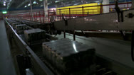 Stock Video Footage of Carlsberg conveyer belt