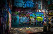 Stock Photo of in the graffiti alley, baltimore, maryland.
