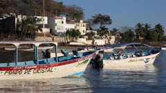 Rincon Fishing Boats 2 Stock Footage