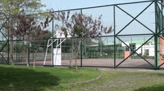 Empty basketball court Stock Footage