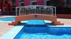 Pool Bridge Stock Footage
