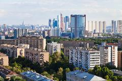 Business and residential areas in moscow Stock Photos