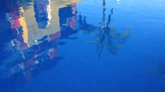 Pool Reflection Stock Footage