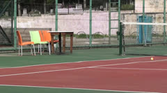 Empty tennis court Stock Footage