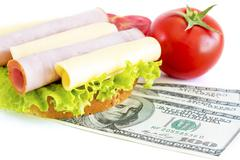 Stock Photo of expensive sandwich