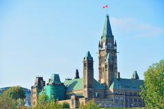 Stock Photo of ottawa parliament hill building