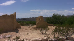 Ghost town, Terlingua, TX 1 Stock Footage