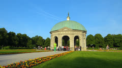 Munich Hofgarten Palace park Diana Temple Germany Bavaria - stock footage