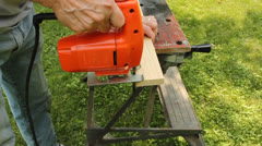 Electric jig saw Stock Footage