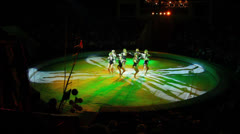 Artists during perfomance in circus Stock Footage