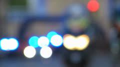 Police vehicle flash light Stock Footage