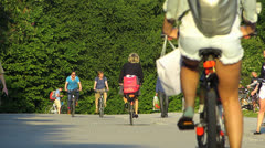 Munich Hofgarten Bike bicycle Germany Bavaria Stock Footage