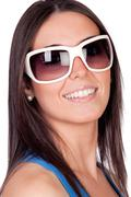 Sexy girl with sunglasses Stock Photos