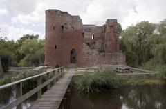 old ruine from castel in heenvliet holland - stock photo
