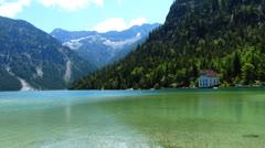 Plansee lake, tyrol, austria Stock Footage