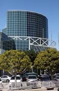 the convention center in downtown los angeles - stock photo
