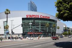 Staples Center in downtown Los Angeles Kuvituskuvat