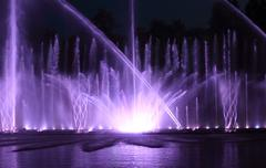Color water fountain at night Stock Photos