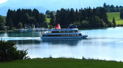 Stock Video Footage of forggen lake, bavaria, germany