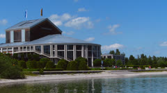 Festival hall in fuessen, bavaria, germany Stock Footage