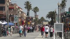 Huntington Beach steet, California Stock Footage