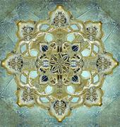 Religious mystic cross Stock Illustration
