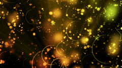 Circles Background With Stars Stock Footage