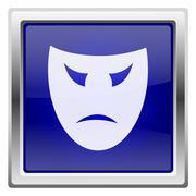 Blue shiny icon Stock Illustration