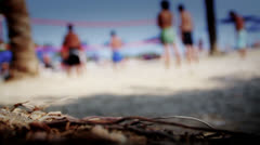Beach volley 2 Stock Footage